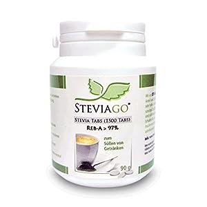 STEVIAGO Stevia Tabs (Reb-A 97%) Nachfüllpackung, wiederverschließbar (1500 Tabs)
