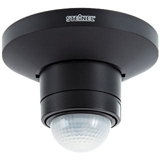 Steinel Bewegungsmelder IS 360 TRIO schwarz mit 3 Infrarot-Sensoren, 360° Rundum-Überwachung bis max. 12 m, Deckenmontage,  602512