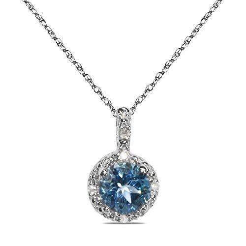 0025ct-diamant-mit-blau-topas-in-10k-wei-gold-in-anhnger-mit-passende-457cm-kette