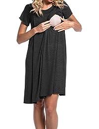 Yying Mutterschaft Nachtwäsche Mutterschaft Kleidung Schwangere Pflege Kleidung Stillen Kleid für Schwangerschaft Pyjamas