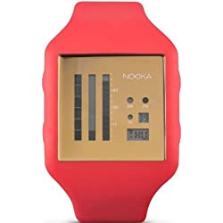 Nooka Unisex Zub Zenv 20 Fire Engine Red/Gold Watch ZUBZENVFG20