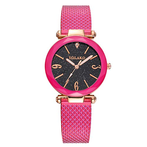 Damen Armbanduhr FGHYHYOLAKO Frauen Casual Quarz Lederband New Strap Watch Uhr Armbanduhr(HOT)