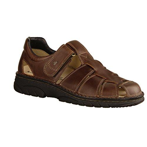 Finn Comfort Preston- Herrenschuhe Sandale/Pantolette, Braun, Leder (Future) (Finn Comfort Einlegesohlen)