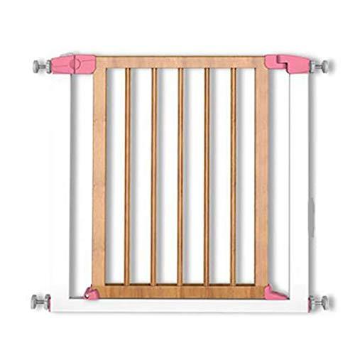 GUOOK Puerta de Seguridad para niños Barandilla de Escalera de Madera Maciza Valla para Mascotas Puerta para Aislamiento de Valla para Perros LEBAO (Color: C)