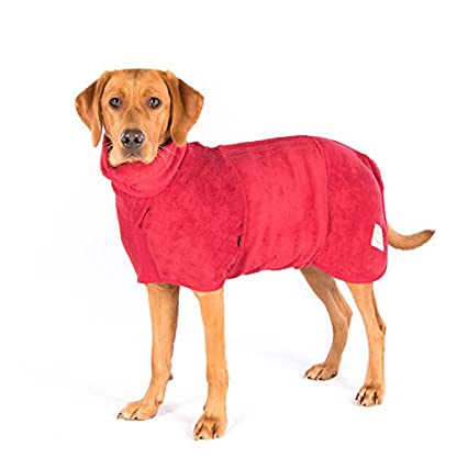 Ruff and Tumble Dog Drying Coat - Classic Collection (XXXS, Brick Red) 1