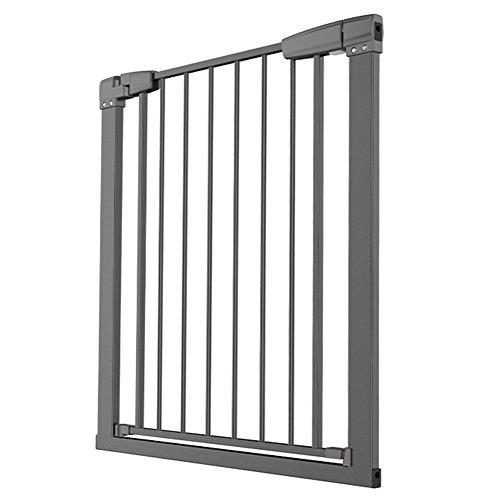 Barrière de sécurité Black Baby Gate - Porte Extensible pour Animaux de Compagnie en métal, pour Enfants, intérieur/Porte/Couloir, Largeur 76-173cm, Hauteur 75,5cm