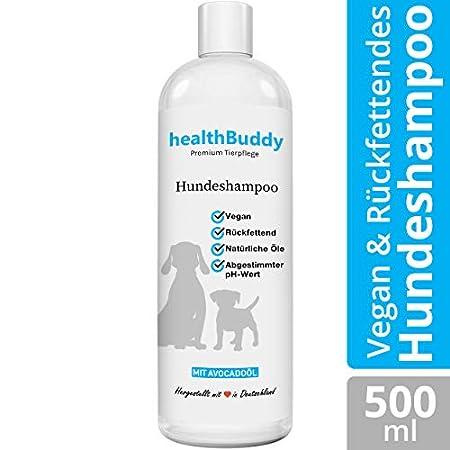 healthBuddy Premium Hundeshampoo mit natürlichem Avocadoöl – Made in Germany – Entfernt unangenehme Gerüche, Für…