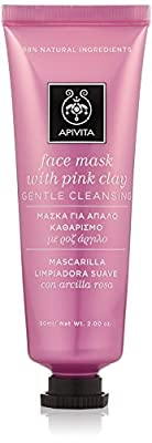 Apivita Gentle Cleansing Face Mask with Pink Clay 1.7 oz 50ml (New Product, Exclusive Innovation) by FARMAESSENZA Srl