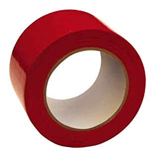 Adpac Marcwell Floor Marking Tape Heavy-duty Red 75mm x 33m Red Ref LMT75R