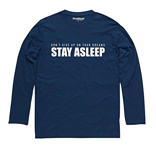 Stay Asleep Langarmshirt, Herren Dunkelblau