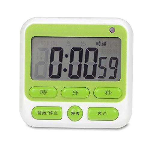 Unbekannt LITING_Wang Wecker Stumm Timer Timer Schüler Lernen Countdown Erinnerung Test Bibliothek Schlafsaal Silent Alarm (Farbe : Grün)