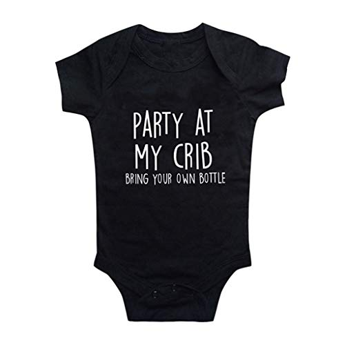 Knowin Neugeborene Baby Mädchen Jungen Kurzarm Brief Drucken Bodysuit Strampler Kleidung Unisex Baby Body Kurzarm Wickelbody Kurzärmliger Jumpsuit mit Liebesbrief-Aufdruck Baby Body