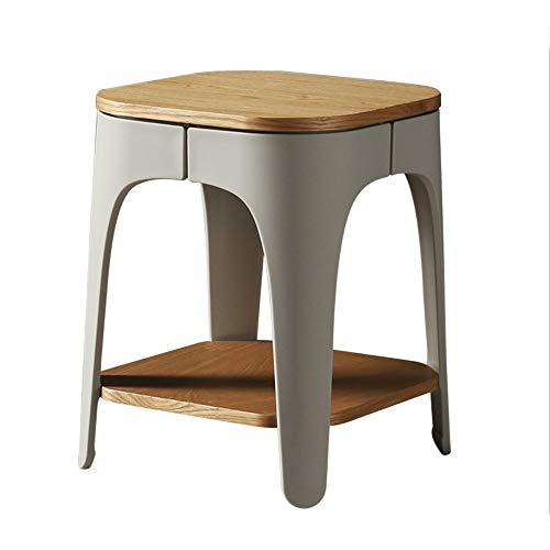 bffe2d7a92b94 Tables HAIZHEN Pliable Petite Ronde en Bois Massif de Rangement Simple,  35.5 * 35.5 *