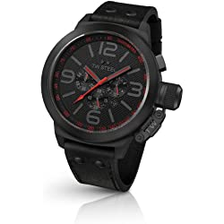TW Steel Men's Quartz Watch Canteen Style TW-903 with Leather Strap