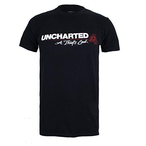 Unchartered 4 Herren T-Shirt Schwarz (Black)