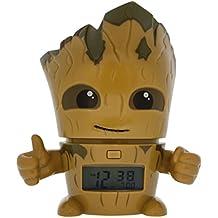 Despertador infantil BulbBotz con luz nocturna de Groot de Guardianes de la galaxia Vol. 2 de Marvel con sonido característico   marrón/verde  plástico   14 cm de altura   Pantalla LCD   chico chica   oficial