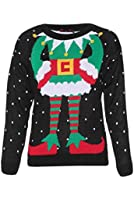 Ladies Elf Body Christmas Knitted Jumper UK Size 8-14