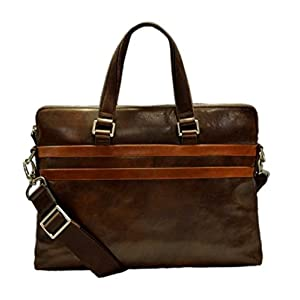 Ledertasche Messenger herren Damen Tasche dunkel braun Handtasche Schultertasche Notebook Tablet ipad tasche…