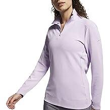 Nike W Nk Dry UV Top Qz Sudadera, Mujer, Lilac Mist, XL