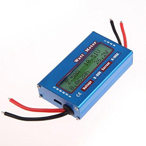 Einfacher Amazingdeal365-DC-Strom-Analysator - 12V / 24V - Watt/Volt/Amp-Meter - Solar-Wind-Analysegerät (Energie-Monitor)