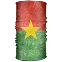 Retro Burkina Faso Flag Headwrap Unisex Headwear Headband Neck Scarf Polyester Do Rag Cap Magic Head Scarf Bandana Travel Headdress Face Mask Neck Gaiter