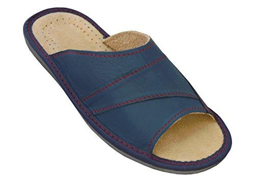 BeComfy-Zapatillas-de-casa-Para-Hombres-100-Cuero-Genuino-Punta-Abierta-Ligera-y-Suave-Disponible-EN-Tres-Colores-y-con-Caja-de-Regalo-40-46-EU-Modelo-XC64