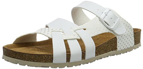 Gabor Home Ee-171-001, Sandales  Bout ouvert femme Weiß (blanco)