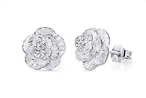 Hosaire Ohrringe Mode Romantische Sakura Ohrstecker Edelstahl Schmuck Zubehör Ohrringen Geburtstag Geschenk (Ohrringe)