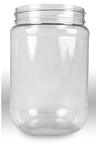 Crystal Clear PET Plastic Wide Mouth Jars with Pressurized White Screw on cap lids and containers in the U.S.A.!!! (32 ounce) by Clear View ContainersTM 32 Oz Crystal