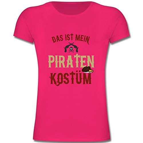 Karneval & Fasching Kinder - Das ist Mein Piraten Kostüm - 128 (7-8 Jahre) - Fuchsia - F131K - Mädchen Kinder - Meine Mädchen Kostüm