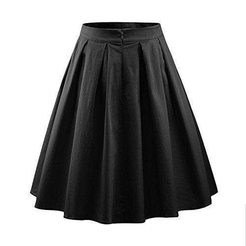 Luouse Damen Audrey Hepburn 50s Retro Vintage Bubble Skirt Rockabilly Swing Röcke -