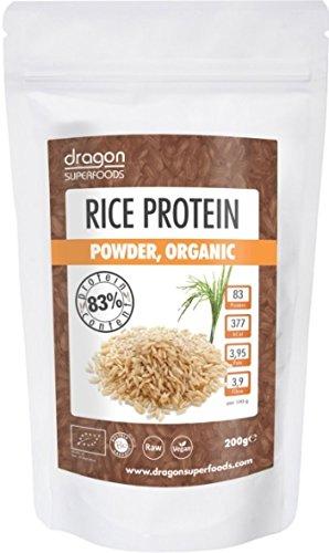 Dragon Superfoods Reisprotein 200g (bio, roh, vegan) Reis-Eiweiß-Pulver 80%