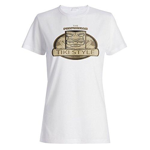 INNOGLEN Aloha Tiki Polynesische Maske Damen T-Shirt o732f