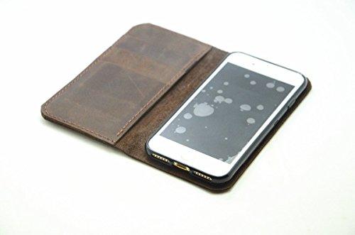 6S iphone cuoio genuino, più caso portafoglio in pelle per