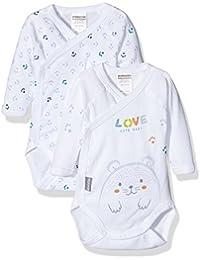Image of Absorba Underwear OP Cute Baby, Body Para Bebés, Azul (riviera 42), 50 cm, Pack de 2