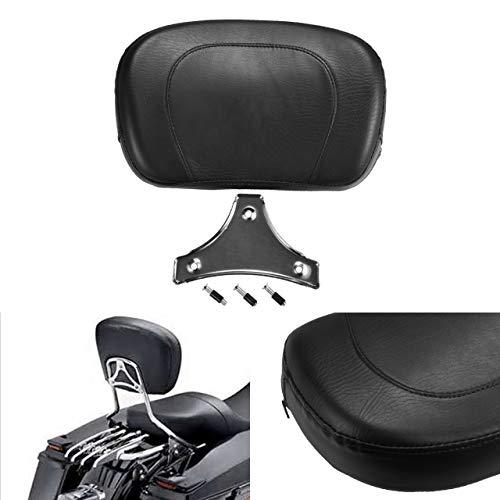 NATGIC - Cuscino per Sedile passeggero Posteriore con Borchie, Rimovibile, per Harley, Yamaha, Honda, Suzuki, Kawasaki, Moto Personalizzate, Chopper, Touring, Cruis