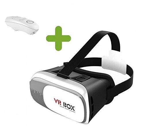 SainSonic VR Box V2 3D Video Movie Game Virtual Reality Headset Glasses Googles + Bluetooth Remote...