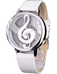 ufengke® mode künstlerischen großen transparenten wahl band musik-note handgelenk armbanduhren für mädchen kinder