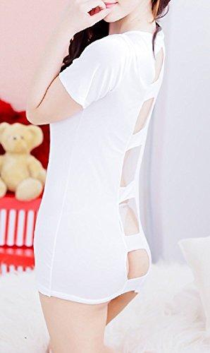 Shangrui L'infirmière de Lingerie Féminine Dos nu Uniforme Avec Pac Infirmière Blanc