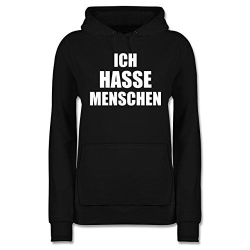 Statement Shirts - Ich Hasse Menschen - XS - Schwarz - JH001F - Damen Hoodie
