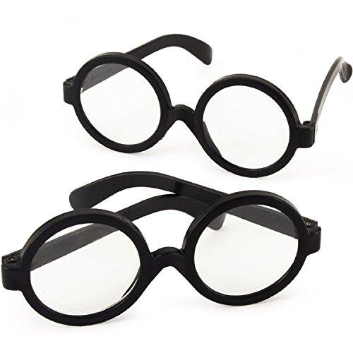 German Trendseller® - 6 x Zauber Brille Harry für Kinder ┃ NEU ┃ Wizzard ┃ Mitgebsel ┃ Kindergeburtstag ┃ Fasching ┃ 6 Stück