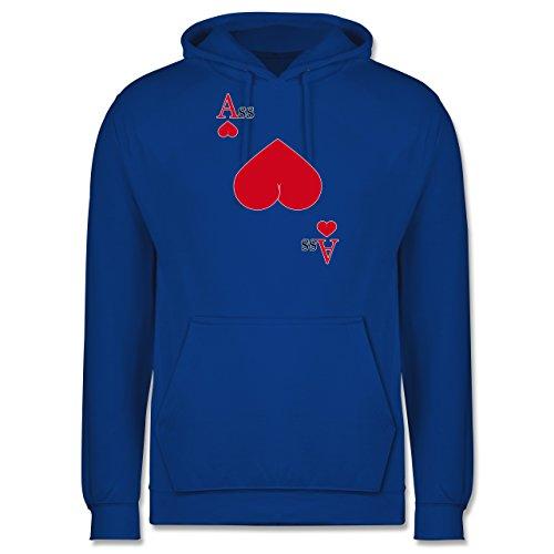 Statement Shirts - Herz Ass - Männer Premium Kapuzenpullover / Hoodie Royalblau
