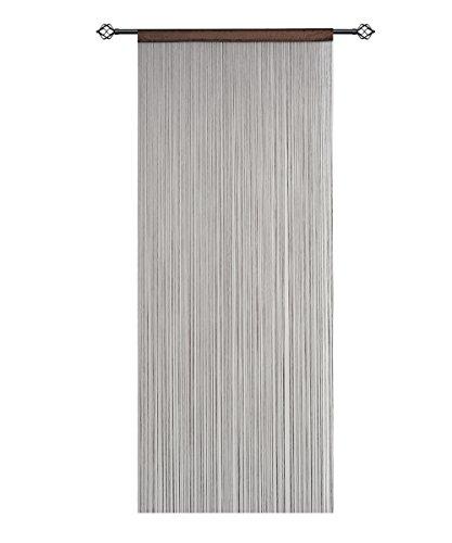 Preisvergleich Produktbild hsylym String Tür Vorhang Panels Netz Fransen Vorhänge Fliegengitter Raumteiler für Home Decor, coffee, 90x200cm