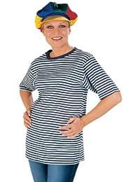 Ringel-T-Shirt blau-weiß, halbarm XL -bis Größe 50