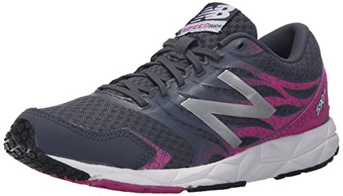 New Balance W590 Running Neutral - Zapatillas de deporte para mujer, color negro (black/purple), talla 40.5 EU (7 UK)
