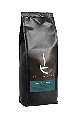 Spiller & Tait Super Crema Blend Coffee Beans 1kg Bag - Fresh Roasted - Perfect for Espresso Machines from Spiller & Tait