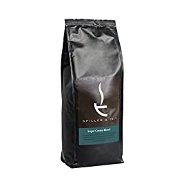 Spiller & Tait Super Crema Blend Espresso Coffee Beans 1kg Bag – Fresh Roasted – Perfect for Espresso Machines