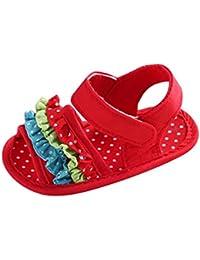 Tefamore Zapatos Sandalias bebé de recién nacido flor suave suela zapatillas antideslizante Niño Cuna