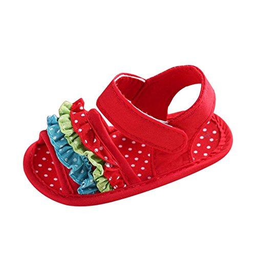 Tefamore Zapatos Sandalias bebé de recién nacido flor suave suela zapatillas antideslizante...