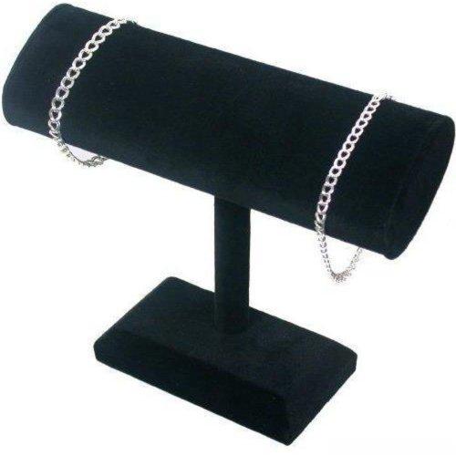 Findingking T en velours noir ovale bracelet et collier bijoux affichage